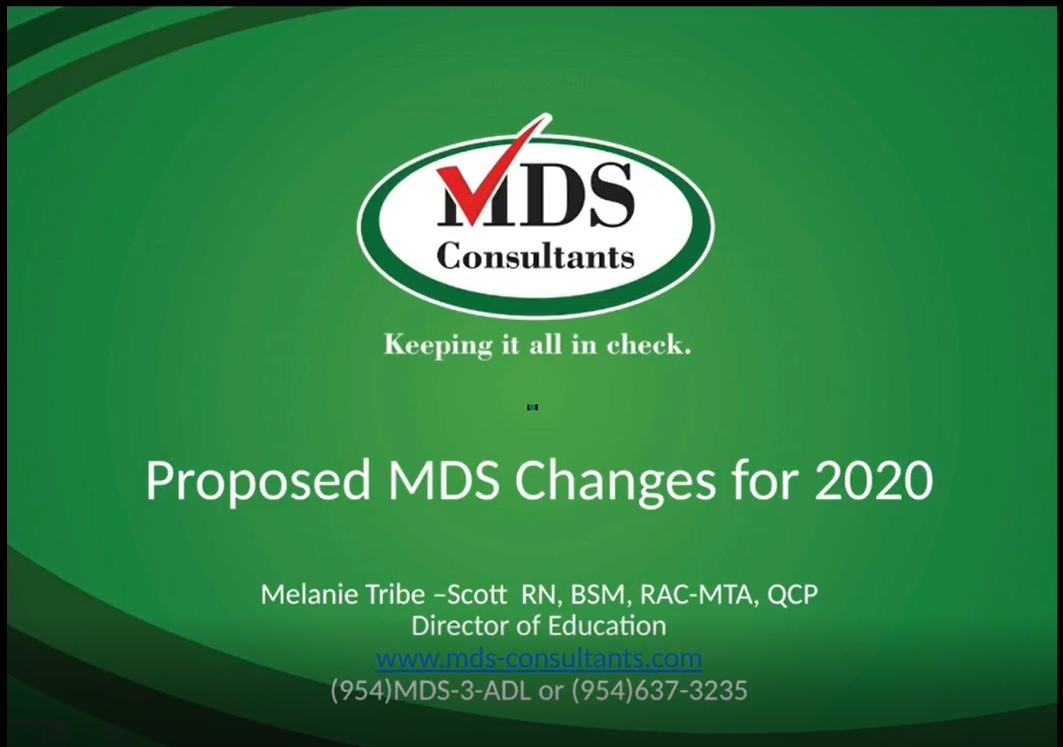 Proposed-2020-MDS-changes